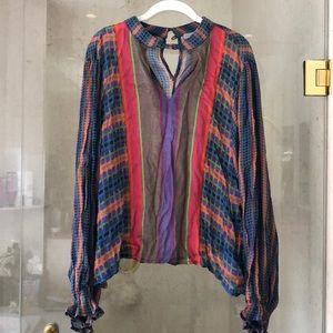 Beautiful multi color/detail pattern shirt
